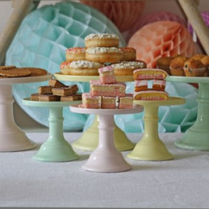 Milk Glass Cake Stand - Not On The High Street