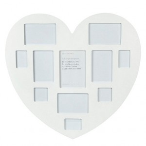 White Large Multi Picture Heart Frame - Debenhams