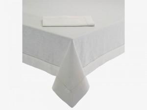 Albany White Linen Tablecloth - Habitat