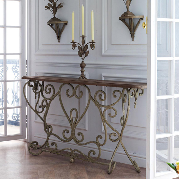 Bastille French Style Console Table   OKA Direct