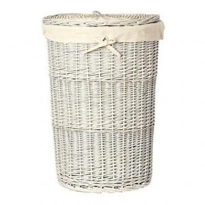 Jasper Conran Grey Wicker Laundry Hamper - Debenhams