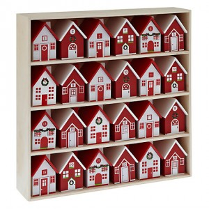 Wooden Scandi Houses Advent Calendar - John Lewis