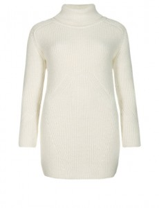 Cream Knitted Tunic with Wool - M&S