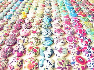Liberty of London Fabric Fridge Magnets - Minibuds (Etsy UK)