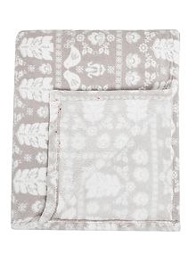 Linea Scandi Grey Fleece Blanket - House of Fraser