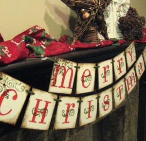 MERRY CHRISTMAS BANNER GARLAND - Bekahjennings