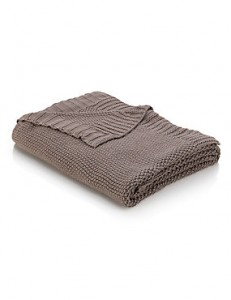 Moss Knit Throw - Marks  Spencer
