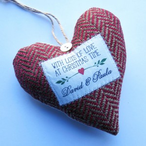 Personalised Christmas Decoration - wordheart