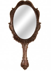 Sass and Belle Grey Handheld mirror - BHS