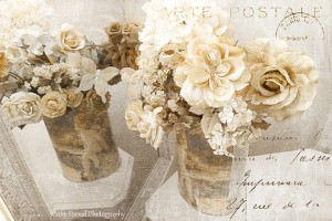 Shabby Chic floral art - kathyfornal
