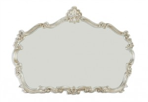 Silver Leaf Ornate Mirror - Furniture Village