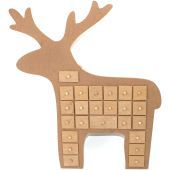 Christmas Wooden Advent Deer - Hobbycraft