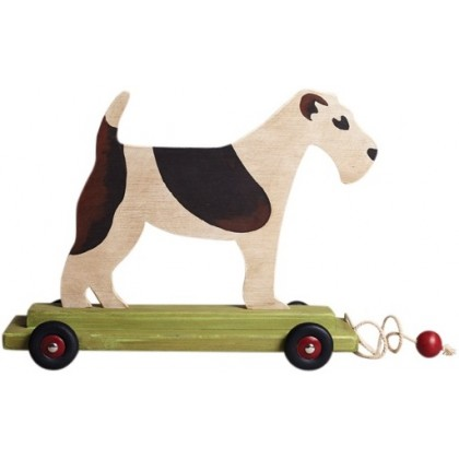 large wooden pushalong dog - english abode