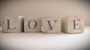 Wooden LOVE blocks - LiziLoves