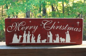 nativity sign - duanesworkshop