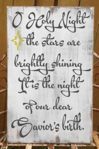 o holy night christmas sign - castleinndesigns