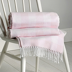 Pink Gingham Throw - The White Company