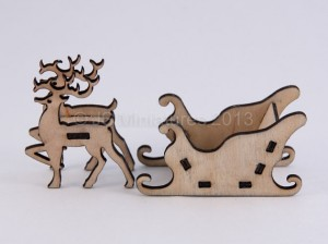 reindeer and sleigh - jsminiatures