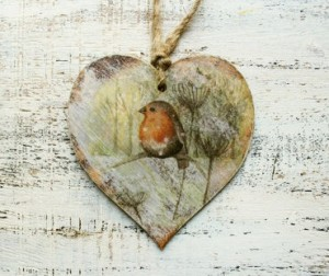 rustic wooden heart christmas decoration - handyhappyhearts