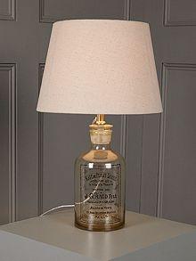 Linea Vintage Bottle Lamp - House of Fraser