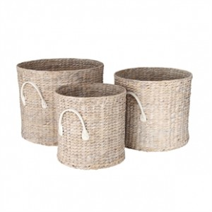 Water Hyacinth Set of 3 Baskets - The Cotswold Company