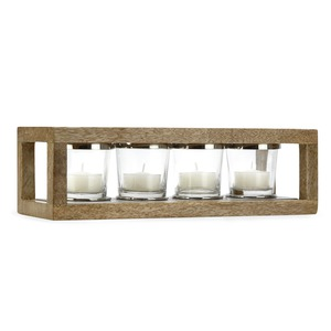 Wooden Frame Tealight Holder - Laura Ashley