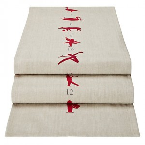 12 days of christmas table runner - john lewis