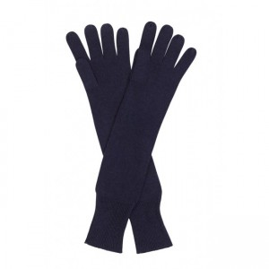 cashmere navy long gloves - handpicked collection
