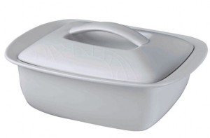 jamie oliver white 2.4 litre covered casserole dish - IWOOT