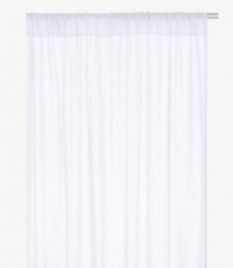 kita white pair of linen curtains - habitat