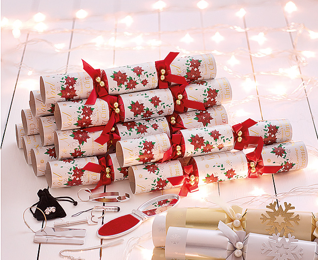 luxury poinsettia crackers - the original gift company