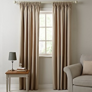maison stitch stripe lined pencil pleat curtains - john lewis