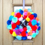 Pom-Pom Wreath Craft Tutorial