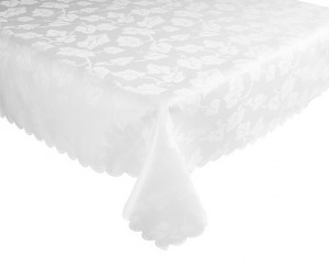 non-iron damask tablecloth in white - scotts of stow