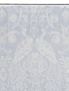 peacock print shower curtain - marks and spencer