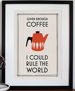 retro coffee print - notonthehighstreet.com