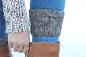 boot cuffs knitting pattern