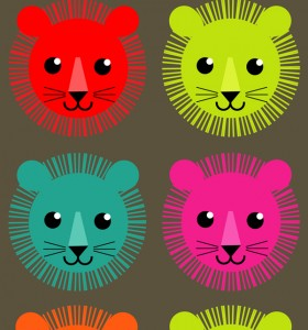 bright lion heads