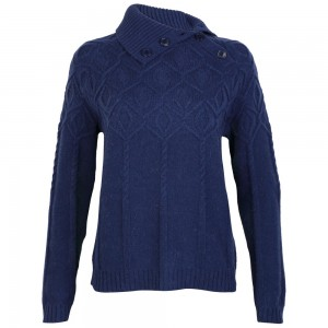 gant c.diamond cable turtle neck ladies jumper - country house outdoor