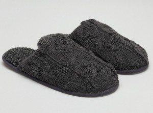 cable knit mules for men - the white company