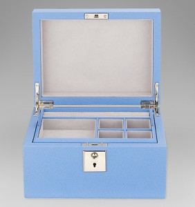 panama jewellery box with tray - smythson