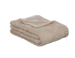 shabby chic mohair effect cable knit throw - house of fraser