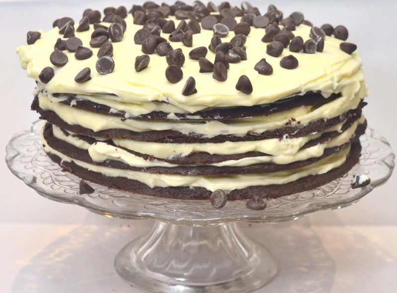 chocolate cookie layer cheesecake