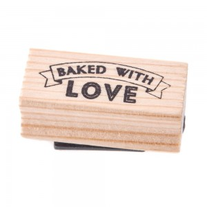 mollie and fred east of india baked with love rubber stamp