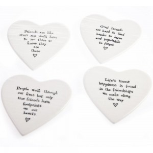 mollie and fred east of india heart coasters
