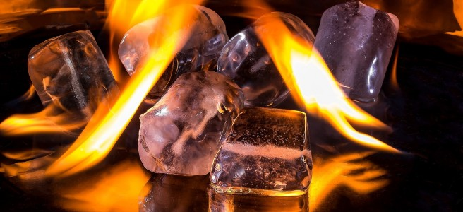 fire ice cubes