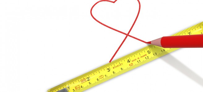 tape measure and heart