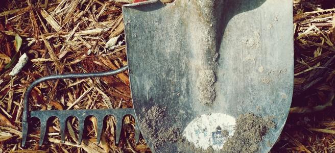 garden fork and spade
